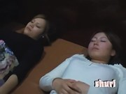 Pretty Japanese boobs pinched in Asian voyeur video