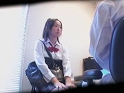 Busty Jap hottie screwed and jizzed during medical exam