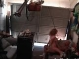 Horny wife gets busted banging in the garage