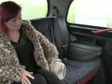 Busty redhead amateur banged in backseat in fake taxi